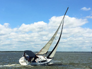 A Sailboat Charter at Dusk